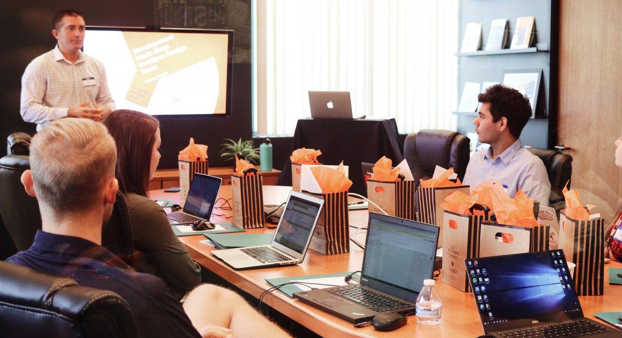 Web development meeting